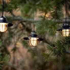 Bronze lanterns hanging