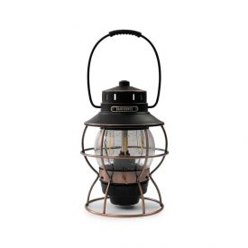 Bronze Stainless Steel and Glass Hanging Lantern