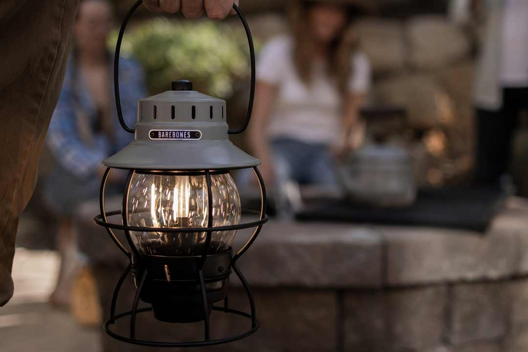 Slate Grey Stainless Steel and Glass Hanging Lantern