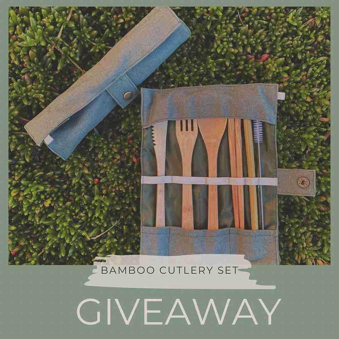 Bamboo Cutlery Set Give Away