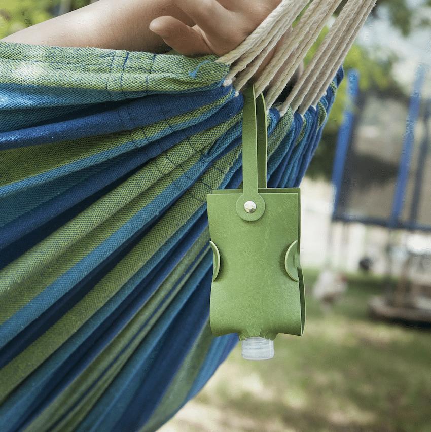 Turquoise Hand Gel Bag