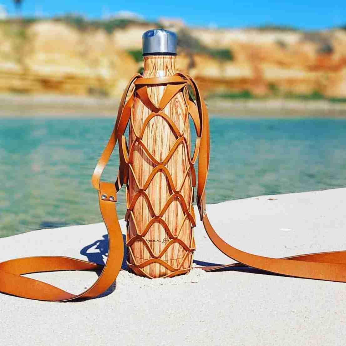 Tan Bottle Backpack