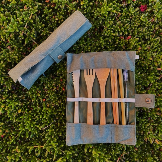 Two Bamboo Cutlery Sets for a Give Away