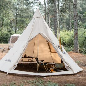 Canvas Tipi tent outdoors