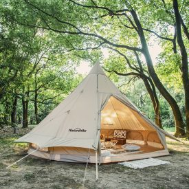 Canvas Tent in Forest