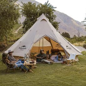 Cotton canvas waterpoorf tent outdoors