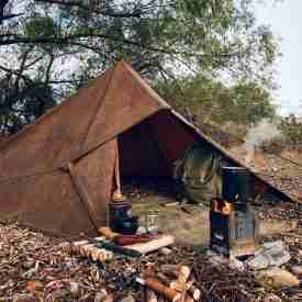 Oilskin Tarp Tent Brown